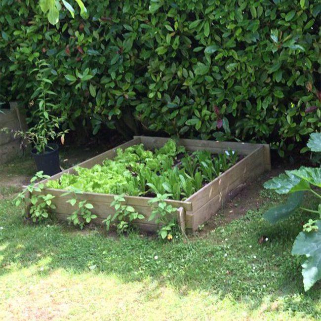 Le jardin potager s offre une coupe au carr mon envie maison - Petit jardin potager carre ...